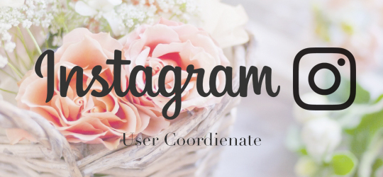 Instagram Coordinate